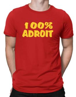 100% Adroit Men T-Shirt