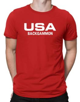 Usa Backgammon / Athletic America Men T-Shirt