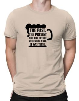 The past, the present, and the future walk into a bar Men T-Shirt