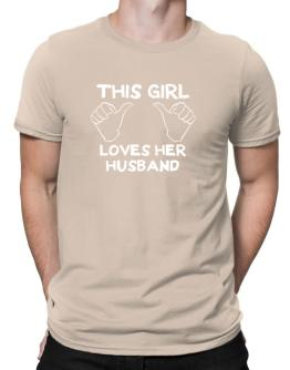 This Girl Loves Her Husband Men T-Shirt