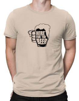 Here For The Beer Men T-Shirt