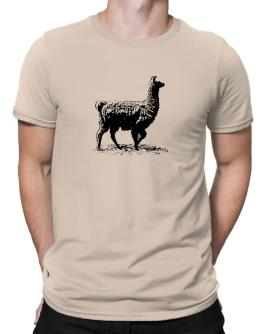 Llama sketch Men T-Shirt
