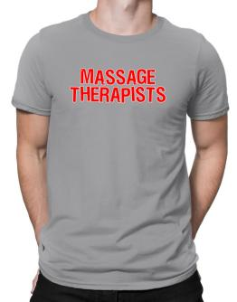 Playeras de Massage Therapists Embroidery