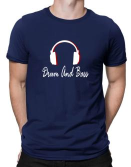Drum And Bass - Headphones Men T-Shirt