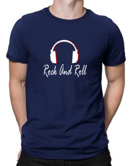 Rock And Roll - Headphones Men T-Shirt