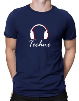 Techno - Headphones Men T-Shirt