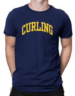 Curling Athletic Dept Men T-Shirt