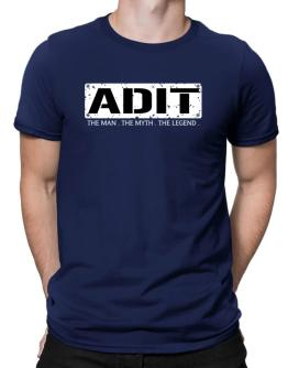 Adit : The Man - The Myth - The Legend Men T-Shirt