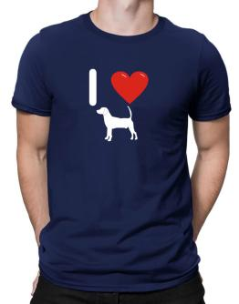 I love North Country Beagle Silhouette Men T-Shirt
