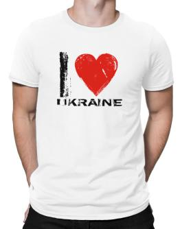 I Love Ukraine - Vintage Men T-Shirt