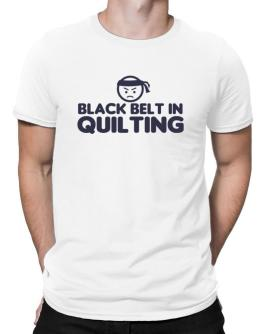 Black Belt In Quilting Men T-Shirt