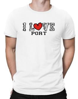 I Love Port Men T-Shirt
