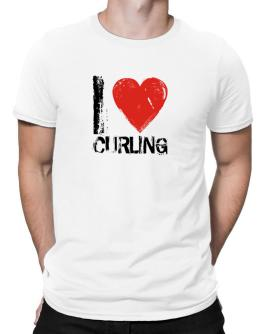 I Love Curling Men T-Shirt