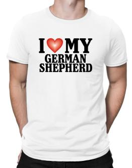 I Love German Shepherd Men T-Shirt