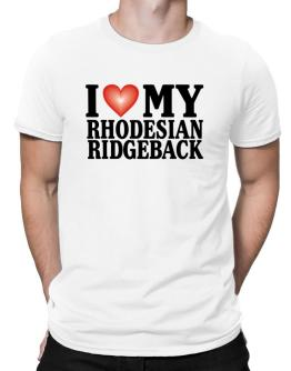 I Love Rhodesian Ridgeback Men T-Shirt