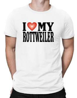 I Love Rottweiler Men T-Shirt