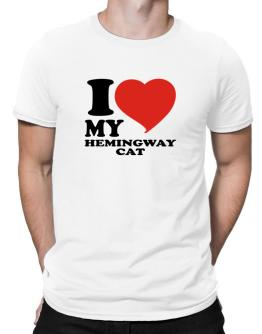 I Love My Hemingway Cat Men T-Shirt