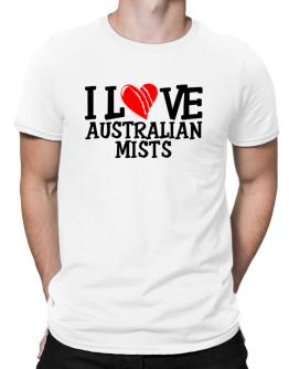 I Love Australian Mists - Scratched Heart Men T-Shirt