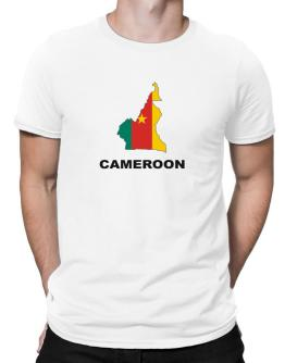 Cameroon - Country Map Color Men T-Shirt