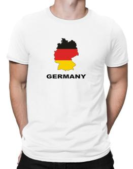 Germany - Country Map Color Men T-Shirt