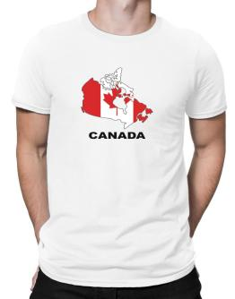 Canada - Country Map Color Men T-Shirt