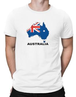 Australia - Country Map Color Men T-Shirt