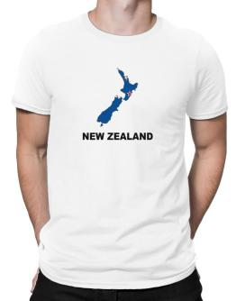 Polo de New Zealand - Country Map Color