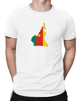 Cameroon - Country Map Color Simple Men T-Shirt
