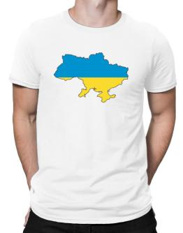 Ukraine - Country Map Color Simple Men T-Shirt