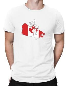 Canada - Country Map Color Simple Men T-Shirt