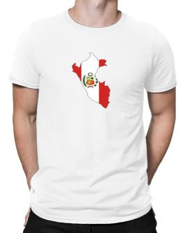 Peru - Country Map Color Simple Men T-Shirt