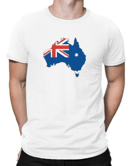 Australia - Country Map Color Simple Men T-Shirt