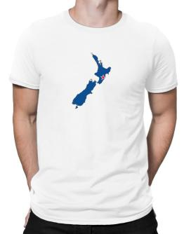 Polo de New Zealand - Country Map Color Simple