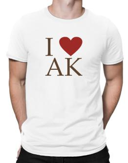 """ I LOVE Alaska "" Men T-Shirt"