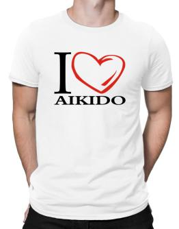 I Love Aikido Men T-Shirt