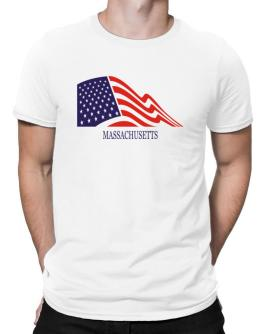 Flag Usa Massachusetts Men T-Shirt
