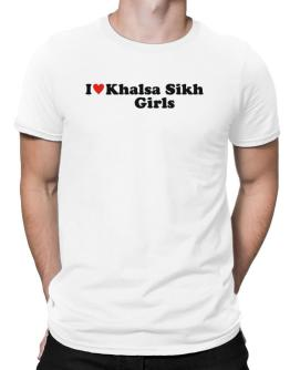 I Love Khalsa Sikh Girls Men T-Shirt