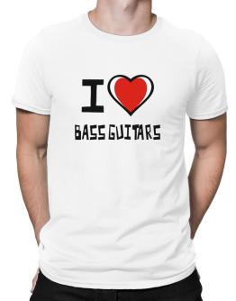 I Love Bass Guitars Men T-Shirt