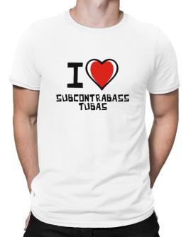 I Love Subcontrabass Tubas Men T-Shirt