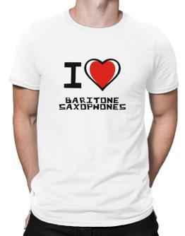 I Love Baritone Saxophones Men T-Shirt