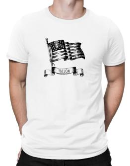Fallon American flag Men T-Shirt