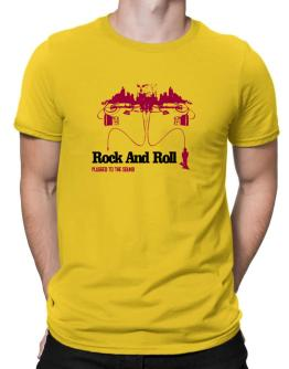 """  Rock And Roll plugged into the sound "" Men T-Shirt"