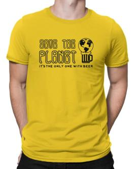 Save the planet with beer Men T-Shirt