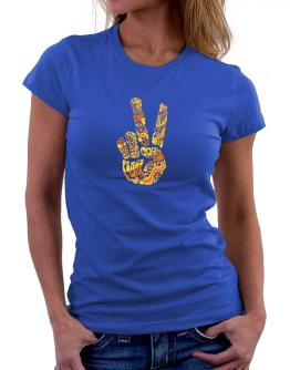 Peace Sign - Hand Collage Women T-Shirt