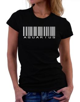 Aquarius Barcode / Bar Code Women T-Shirt