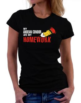 My Andean Condor Ate My Homework Women T-Shirt