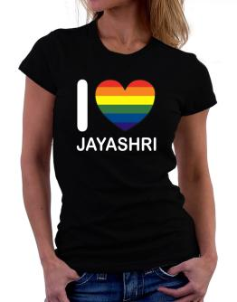 I Love Jayashri - Rainbow Heart Women T-Shirt