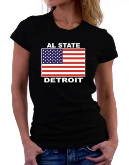 """ Detroit - US Flag "" Women T-Shirt"