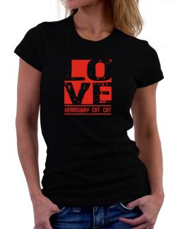 Love Hemingway Cat Women T-Shirt