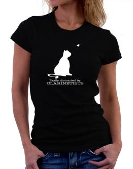 Camisetas de Mujer de Easily Distracted By Clarinetists